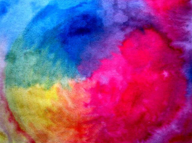 color wheel watecolor by Waldorf School student